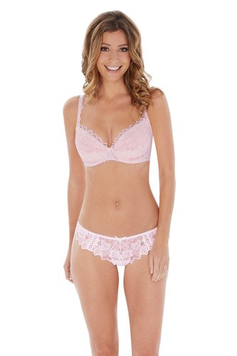 Audelle Fiore padded plunge soft pink