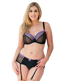 Curvy Kate Bardot black/purple