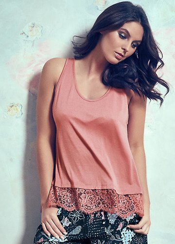 Pour Moi Sofa Love Secret Support Vest Top - Dusky Pink